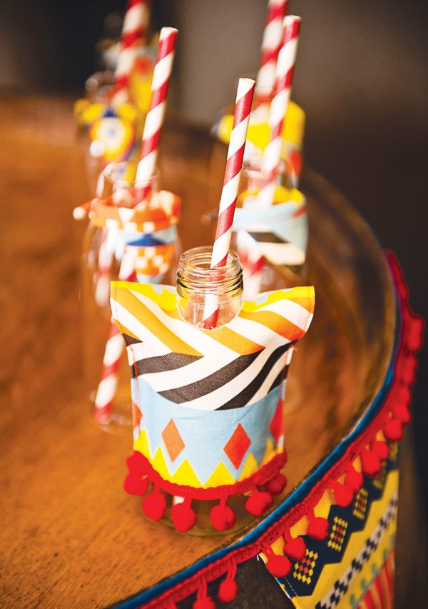 fiesta mexicana twins birthday party drink poncho