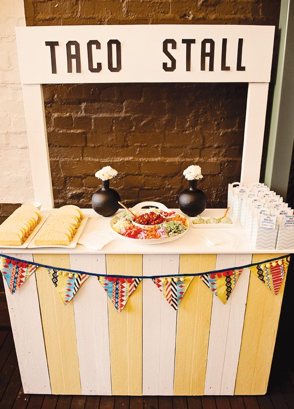 fiesta mexicana twins birthday party taco stall