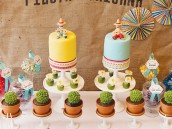 fiesta mexicana twins birthday party dessert table