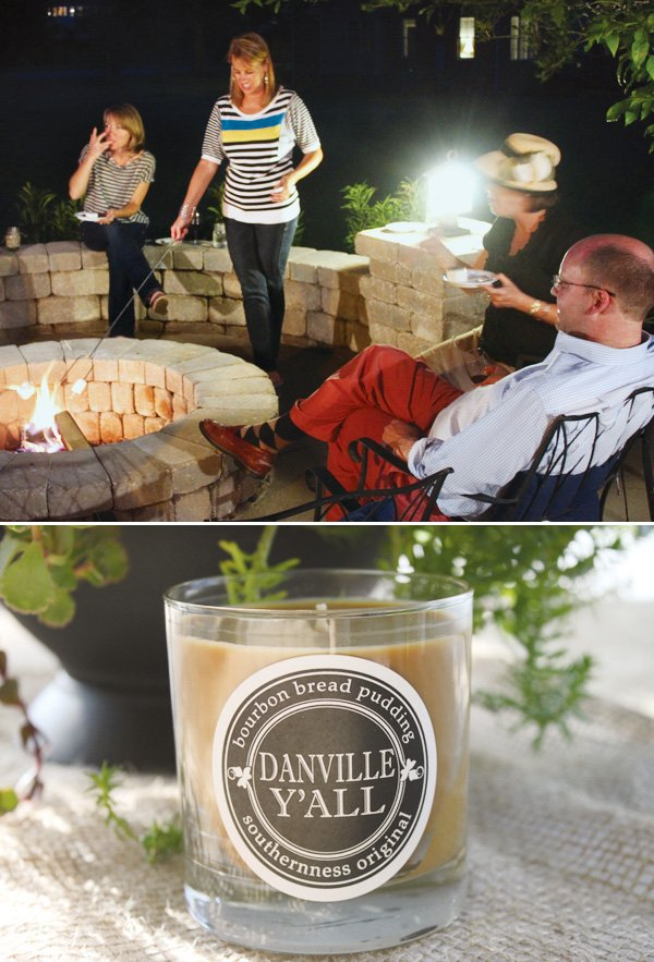 fire pit for s'mores and a hostess gift idea