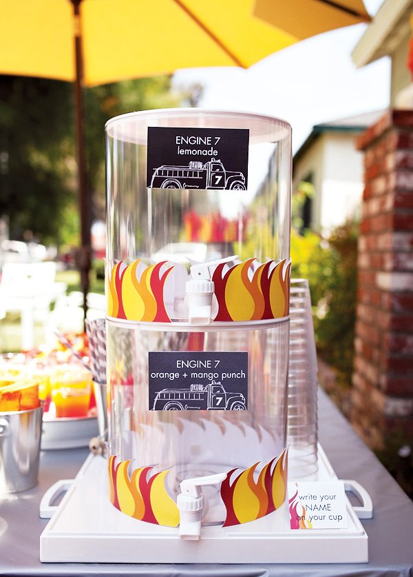 fire struck party drink station