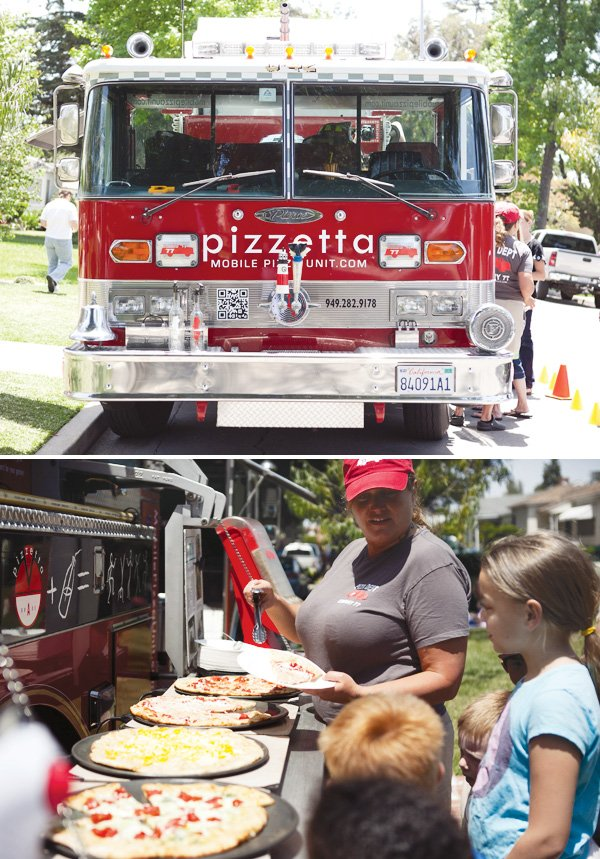 fire truck pizza party