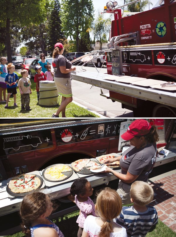 fire truck pizza delivery