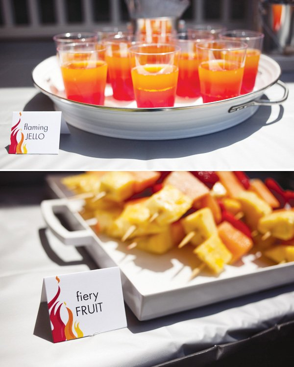 flaming jello in red, orange & yellow