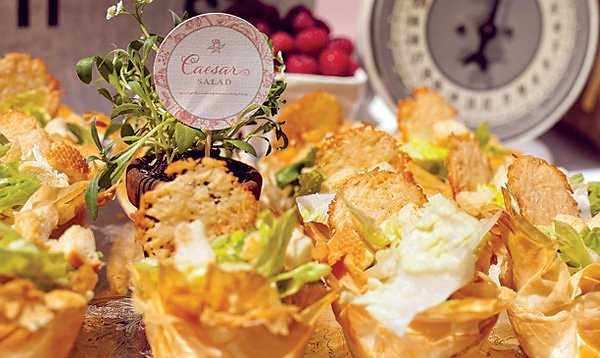 french baby shower - caesar salad