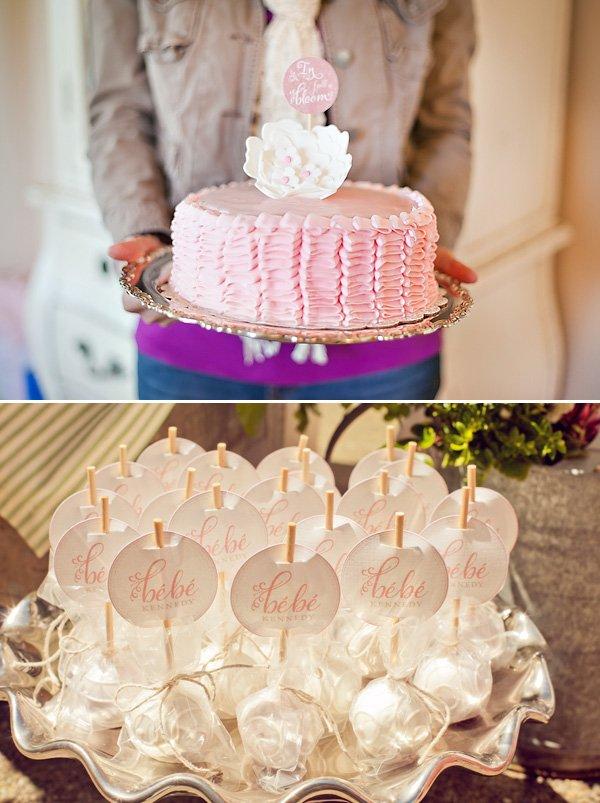 french baby shower cake pops