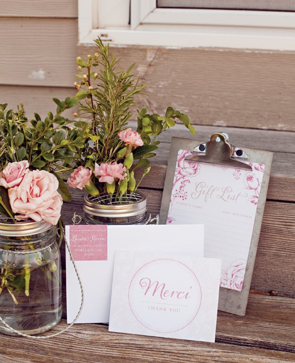 french baby shower stationer