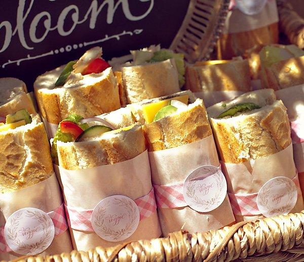 french baby shower veggie sandwiches