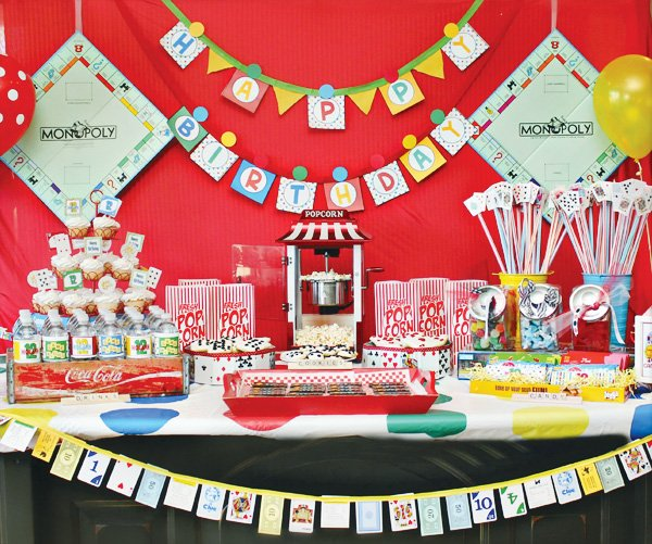 game night party ideas for a dessert table