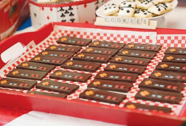 game night party ideas nintendo chocolate bars