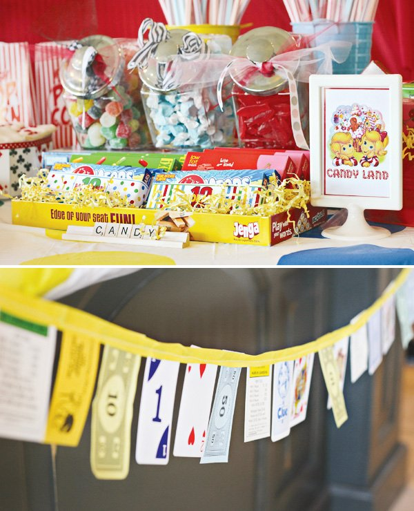 game night party ideas piece bunting