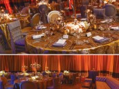 gold and ivory wedding table decorations