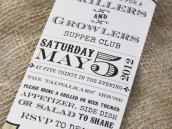 grillers and growlers dinner party with a pub style invitation