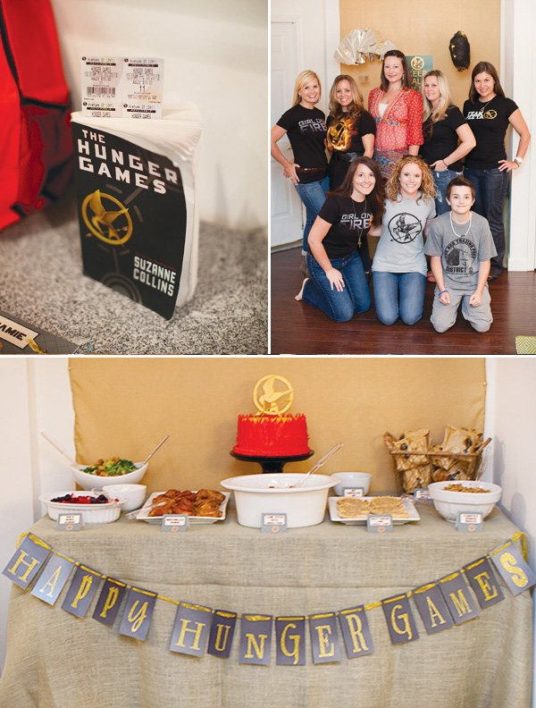 hunger games movie party food table