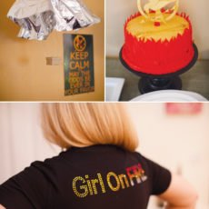 hunger games movie party mockingjay cake