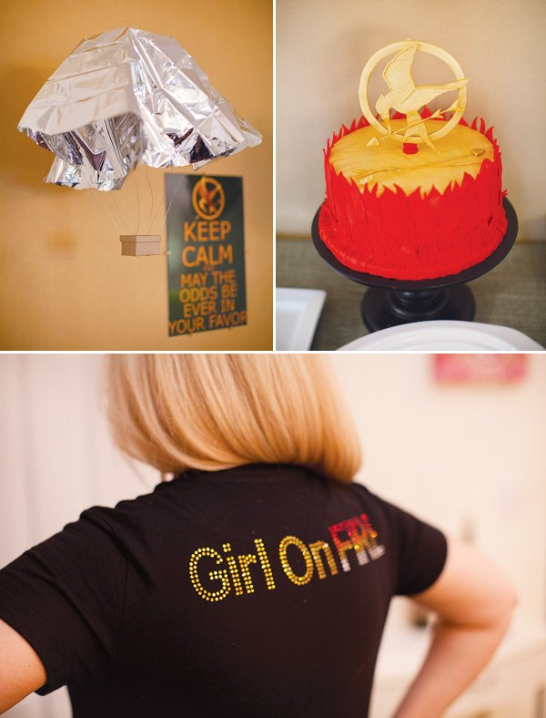 hunger games movie party mockingjay cake