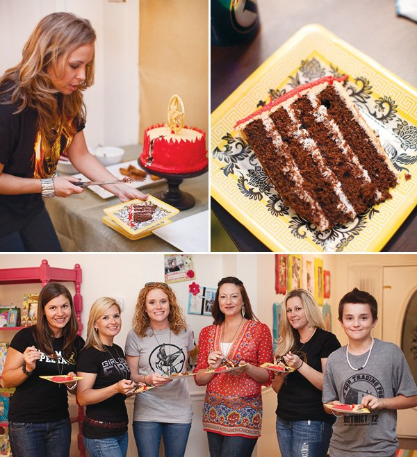 hunger games movie party cake plates