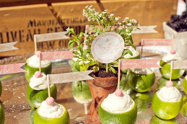 french baby shower with key lime mousse