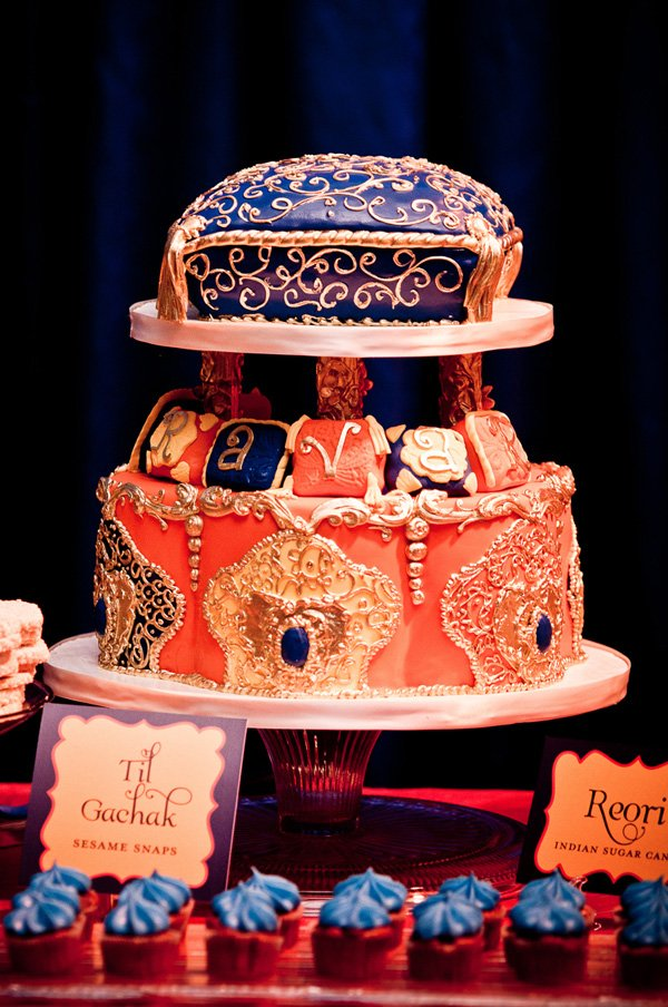 indian lohri first birthday cake