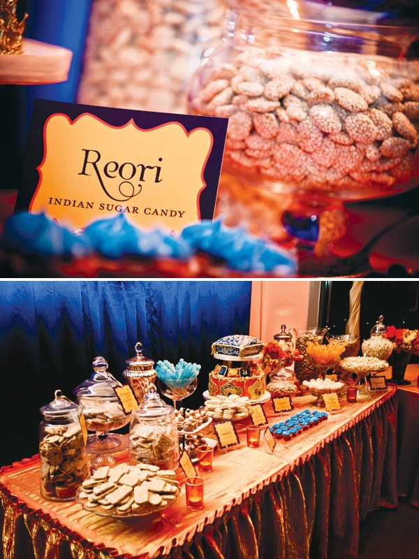 indian lohri celebration dessert table