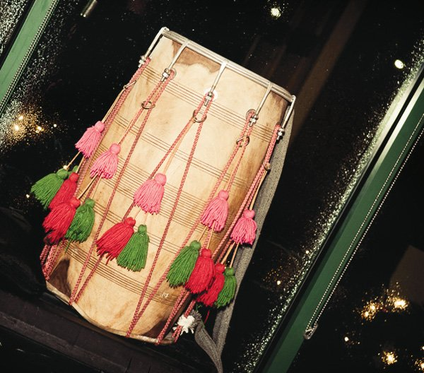 indian lohri celebration drum
