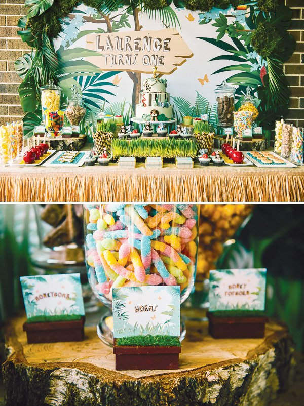 1st Birthday Party Decorations Jungle Image Inspiration of Cake