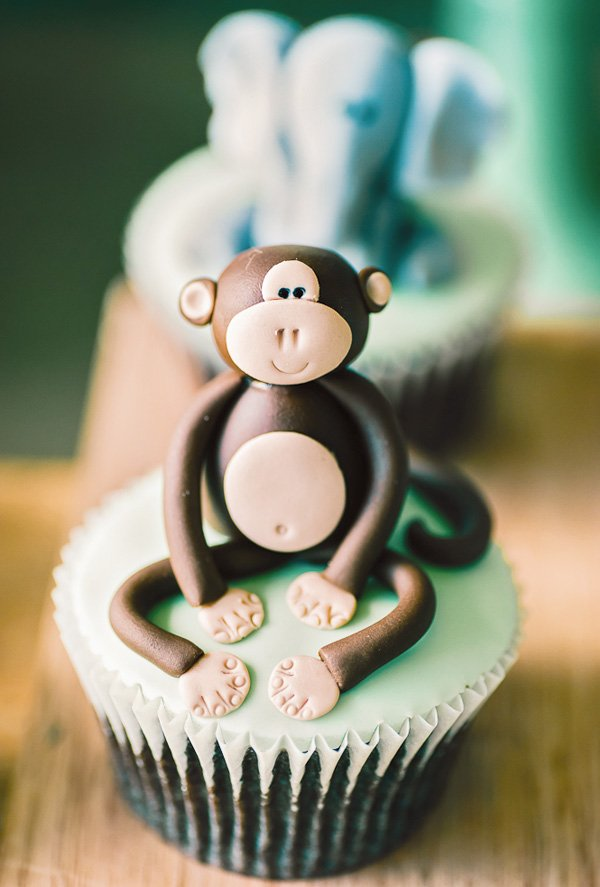 jungle monkey cupcake topper