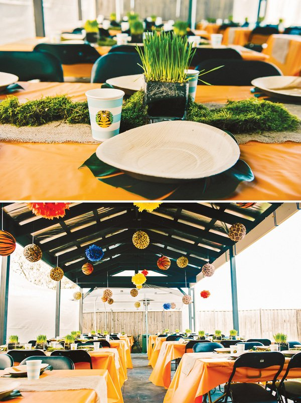 jungle theme first birthday place setting