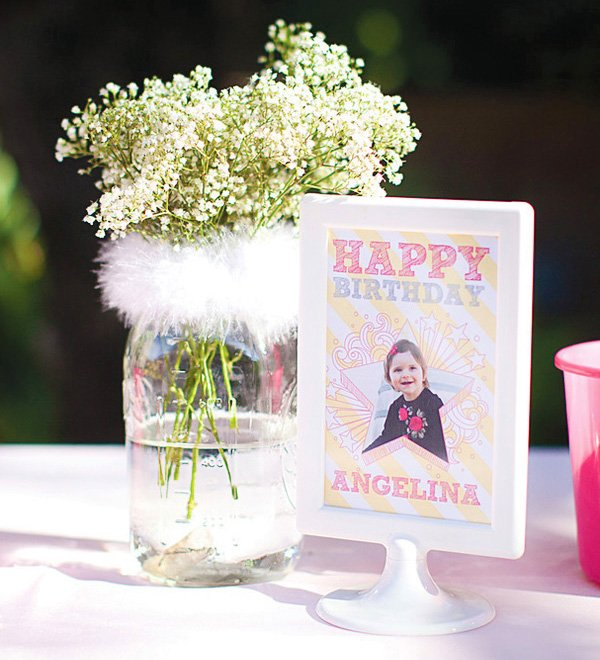 little angel birthday party printables