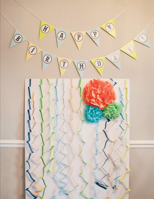 little man first birthday party backdrop diy