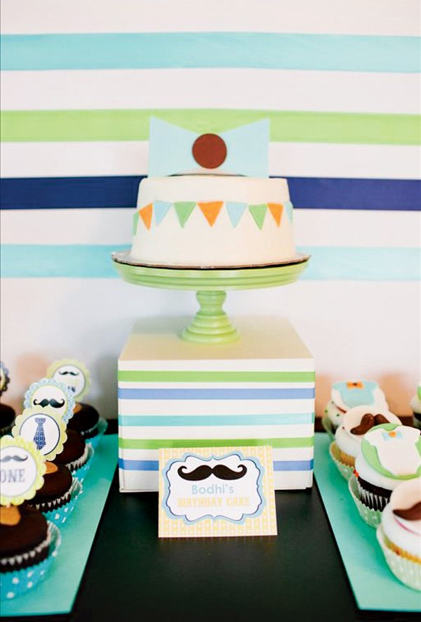 little man first birthday bow tie birthday cake