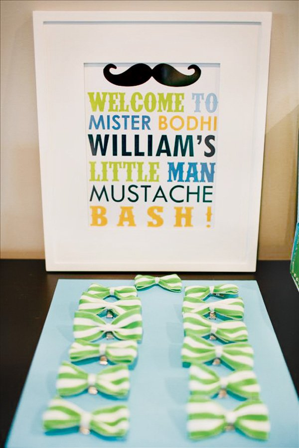 little man mustache party bow ties