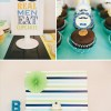 little man first birthday dessert table