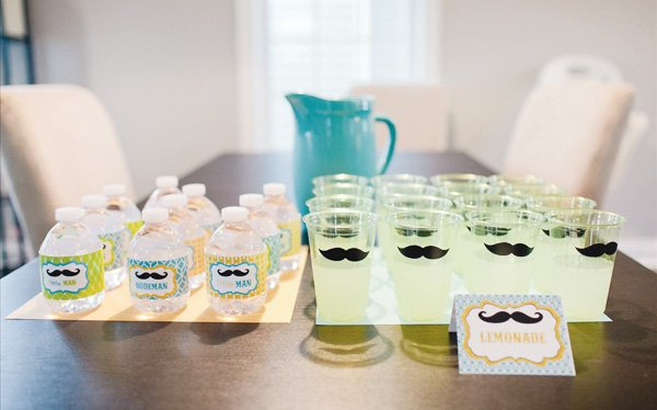little man first birthday mustache party