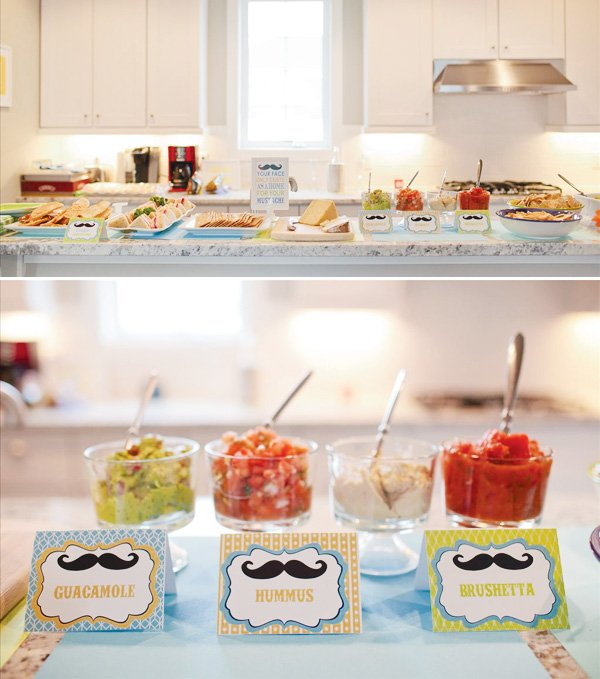 little man first birthday party food labels