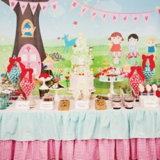 magic faraway tree party dessert table