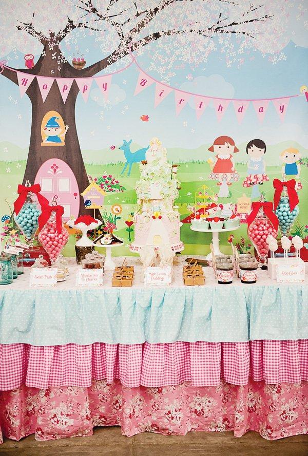 magic faraway tree party dessert table