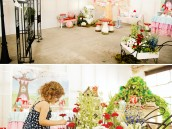 magic faraway tree party flowers and party room set up