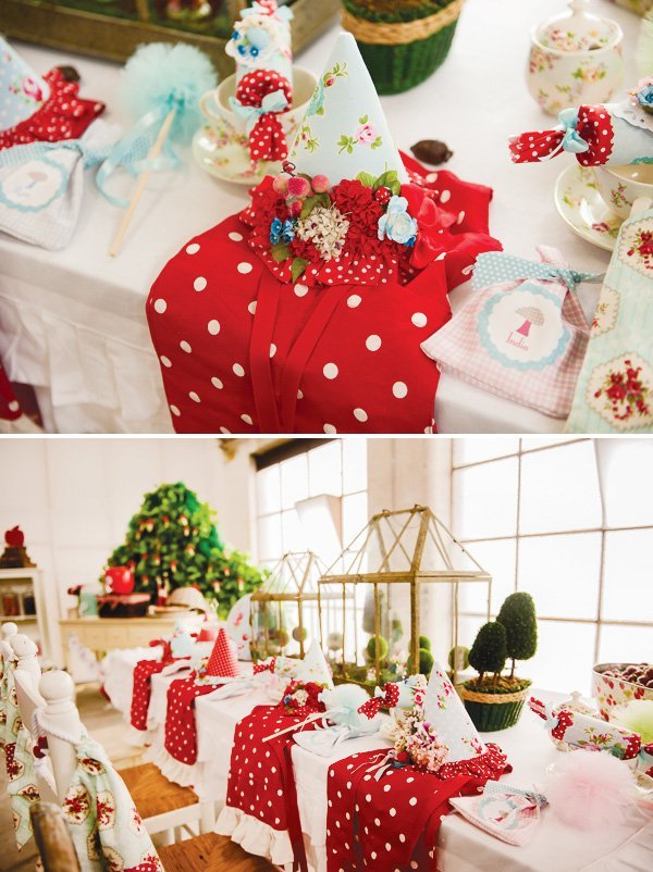 magic faraway tree party hat place setting