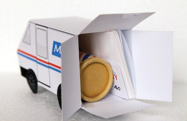 mail birthday party mail truck favors