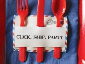 mail birthday party clip and ship silverware