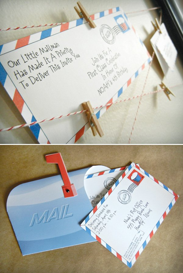 mail birthday party invitation