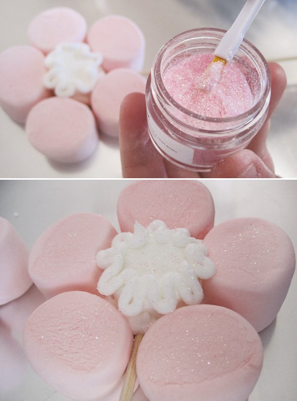 marshmallow mother's day tutorial edible gitter