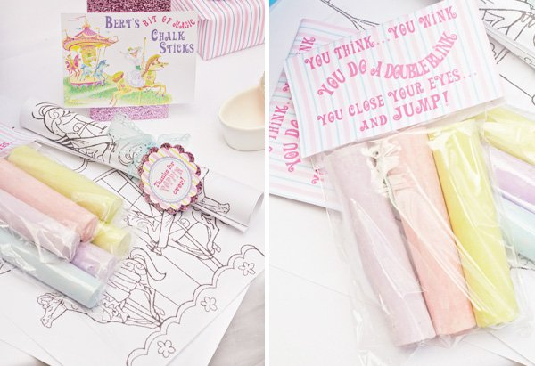 mary poppins chalk packaging design