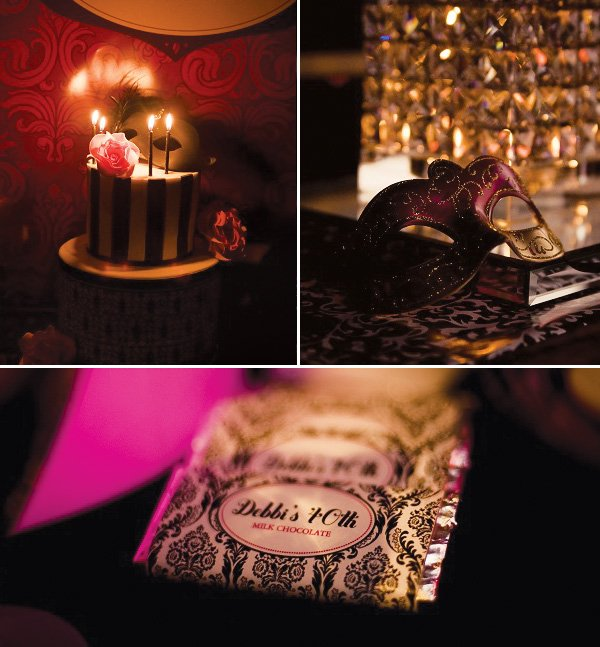 a9db7763d70d7 Chic Masquerade Themed 40th Birthday Party // Hostess with the Mostess®