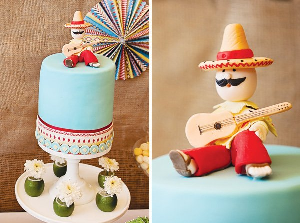fiesta mexicana twins birthday party cake toppers