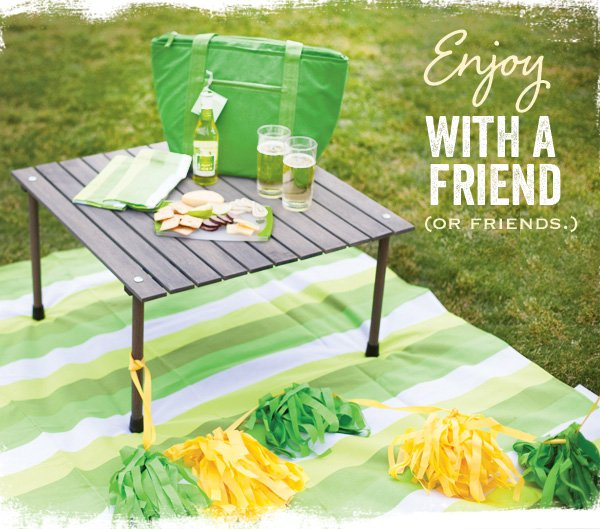 michelob ultra light cider picnic pack - green and yellow