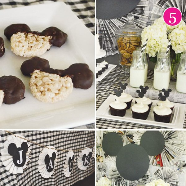 mickey mouse silhouette party