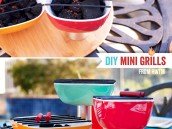 mini bbq centerpiece for a summer grilling party - diy tutorial