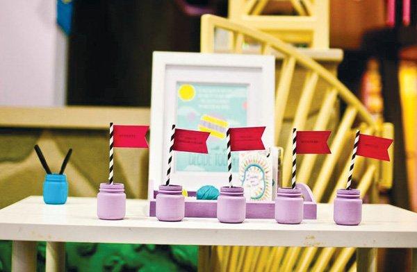 modern seuss birthday party purple jars